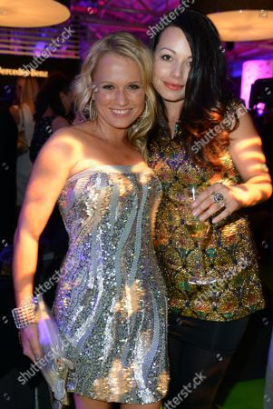 Stock Image of German Television Presenter and Actress Nova Meierhenrich (l) and German Actress Cosma Shiva Hagen Attend the After Show Party of the 'Tribute to Bambi' Gala in Berlin Germany 18 October 2012 the Proceeds From the Event Will Benefit the 'Tribute to Bambi' Foundation's Which Supports Needy Children in Germany Germany Berlin
