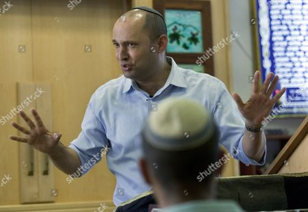 Naftali Bennett Leader of the Habayit Hayehudi (the Jewish House) Party Speaks to Students in a 'Yeshiva ' Or a Seminary in Shapiro Israel in a Final Campaigning Stop 20 January 2013 Bennet was Speaking to Religious Students who Face Army Induction and was Looking For Their Votes As Well As Urging Them to Settle in Religious Areas in the West Bank General Elections in Israel Are Scheduled to Be Held on 22 January Israel Shapiro