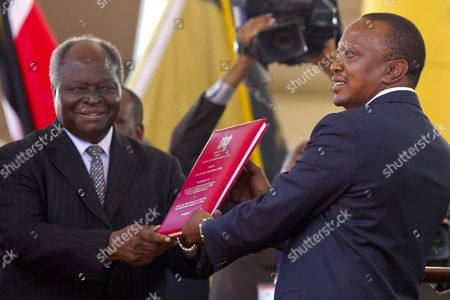 Editorial image of Kenya Kenyatta Swearing in - Apr 2013