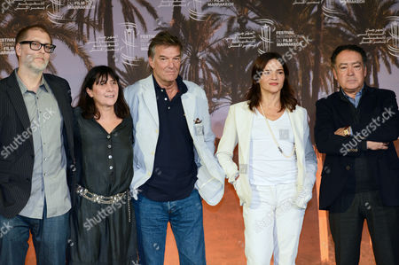 (l-r) Argentinian Film Director Juan Solanas French Film Director Sylvie Pialat French Film Director Benoit Jacquot Italian Actress Chiara Caselli and Moroccan Painter Saad Hassani Arrive For the 12th Marrakesh International Film Festival in Marrakesh Morocco 06 December 2012 the Festival Runs Until 08 December 2012 Morocco Marrakesh
