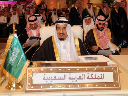 Saudi Crown Prince Salman Bin Abdul Aziz Al-saud Attends the Arab League Summit in Doha Qatar 26 March 2013 the Syrian Opposition was on 26 March Handed Syria's Seat in the Arab League National Coalition Leader Moaz Al-khatib and a Small Delegation Were in Attendance at the Annual Summit of the 22-member Pan-arab Grouping Qatar Doha