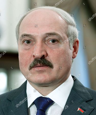 Stock Photo of The President of Belarus Aleksandr Lukashenko (l) is Seen at the Istana Or Presidential Palace in Singapore 21 March 2013 Lukashenko is on a Two-day Official State Visit to Singapore Singapore Singapore