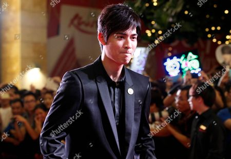 Taiwanese Actor and Cast Member Vic Chou Also Known As Zhou Yu Min Walks on the Red Carpet During the Premier of the Movie 'Saving General Yang' in Singapore 30 March 2013 the Movie Directed by Hong Kong's Ronny Yu is Scheduled For Release 04 April Singapore Singapore