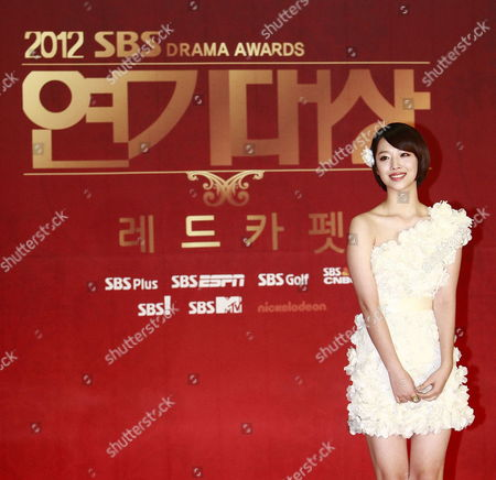 Stock Picture of South Korean Girl Group 'F(x)' Member Singer and Actress Sulli of Choi Jin-ri Arrives For the 2012 Annual Sbs Drama Awards at the Sbs Prism Tower in Seoul South Korea 31 December 2012 the Sbs Drama Awards Ceremony Honors Actors and Actresses who Have Stared in Dramas by Sbs the Awards Started in 1993 and Have Been Held Annually Ever Since Korea, Republic of Seoul