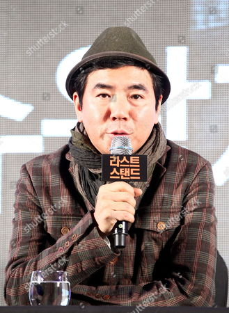 South Korean Director Kim Jee-woon Speaks During a Press Conference on His Film 'The Last Stand' at a Hotel in Seoul South Korea 20 February 2013 the Movie Will Open in South Korean Theaters on 21 February Korea, Republic of Seoul