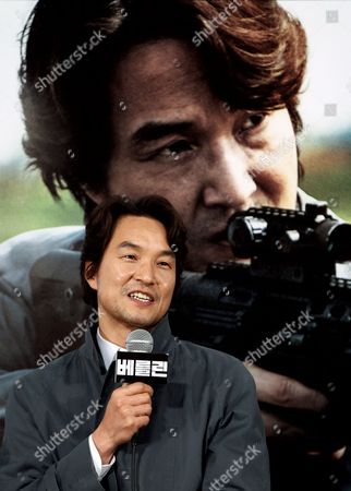 South Korean Actor Han Suk-kyu Speaks During a Press Conference on His Film 'The Berlin File' at Wangsipri Cgv Theater in Seoul South Korea 21 January 2013 the Movie Will Open in South Korean Theaters on 31 January Korea, Republic of Seoul