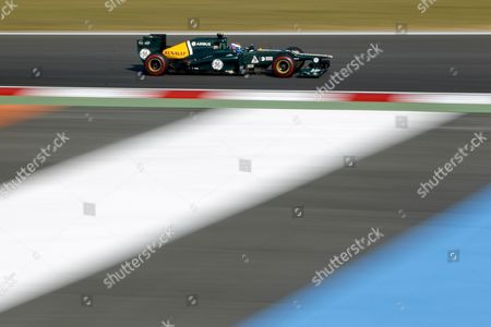 Russian Formula One Driver Vitaly Petrov of Caterham F1 Team Steers His Car During the Second Practice Session at the Korean International Circuit in Yeongam South Korea 12 October 2012 Korea, Republic of Yeongam