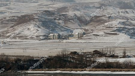 A View of the Snow-covered Gaepung-gun County on the North Korean Side of the Military Demarcation Line in the Demilitarized Zone (dmz) Seen From the Odusan Observatory in Gyeonggi-do South Korea 10 December 2012 South Korean Foreign Minister Kim Sung-hwan Said on 10 December That His Government Will Continue to Focus on Diplomacy to Persuade North Korea to Cancel Plans to Launch a Long-range Rocket This Month Despite an Indication From the North That It May Have to Delay the Launch Korea, Republic of Gyeonggi-do