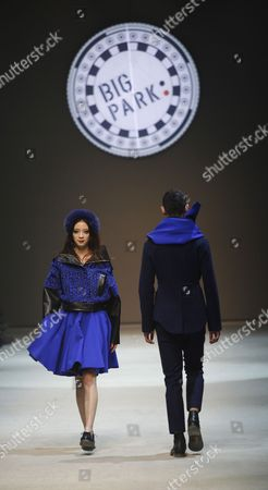Models Present Creations by South Korean Designer Park Youn-soo During the 2013 Fall/winter Seoul Fashion Week in Seoul South Korea 26 March 2013 Some 70 Designers Showcase Their Collections During the Event That Runs From 25 to 30 March Korea, Republic of Seoul
