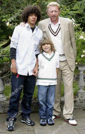 Boris Becker with sons Noah Gabriel and Elias Balthazar