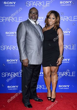 Stock Picture of Us Producer T D Jakes (l) and Daughter Sarah Jakes (r) Arrive For the World Premiere of 'Sparkle' at Grauman's Chinese Theatre in Hollywood California Usa 16 August 2012 United States Hollywood