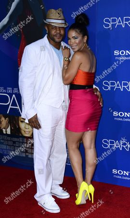 Us Actors Rockmond Dunbar (l) and Maya Gilbert (r) Arrive For the World Premiere of 'Sparkle' at Grauman's Chinese Theatre in Hollywood California Usa 16 August 2012 United States Hollywood