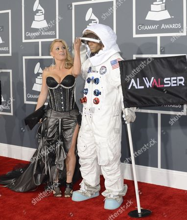 Swiss Musical Artist Al Walser (r) and Guest Arrive For the 55th Annual Grammy Awards in Los Angeles California Usa 10 February 2013 United States Los Angeles