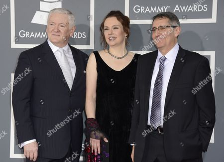 Stock Picture of From L-r Us Producer Jim Anderson Us Engineer Darcy Proper and Us Producer Michael Friedman Arrive For the 55th Annual Grammy Awards in Los Angeles California Usa 10 February 2013 United States Los Angeles