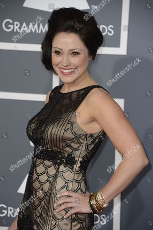 Us Christian Singer Kari Jobe Arrives For the 55th Annual Grammy Awards in Los Angeles California Usa 10 February 2013 United States Los Angeles