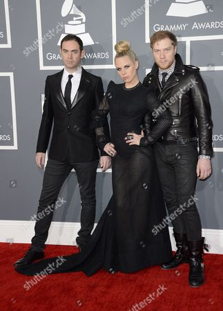 Stock Picture of British Electronic Music Group Joseph Ray Alana Watson Daniel Stephens (l-r) Arrives For the 55th Annual Grammy Awards in Los Angeles California Usa 10 February 2013 United States Los Angeles
