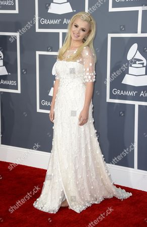 Ukrainian Singer Mika Newton Arrives For the 55th Annual Grammy Awards in Los Angeles California Usa 10 February 2013 United States Los Angeles