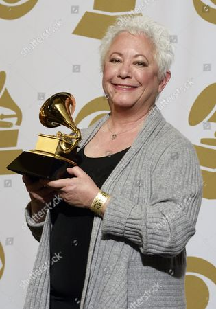 Us Singer Janis Ian Holds the Award For Best Spoken Word Album (includes Petry Audio Books) at the 55th Annual Grammy Awards in Los Angeles California Usa 10 February 2013 United States Los Angeles