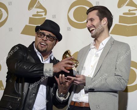 Us Singers Israel Houghton (l) and Micah Massey (r) Hold the Award For Best Contemporary Christian Music Song at the 55th Annual Grammy Awards in Los Angeles California Usa 10 February 2013 United States Los Angeles