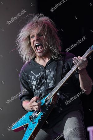C C Deville of Us Band Poison Performs at Klipsch Music Center in Indianapolis Indiana 24 August 2012 United States Indianapolis