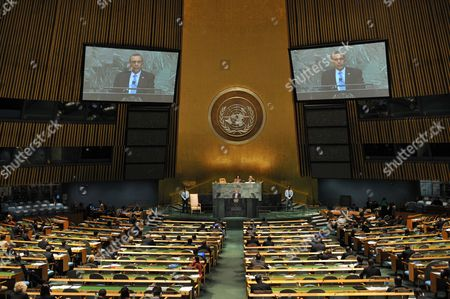 Porfirio Lobo Sosa President of the Republic of Honduras Addresses the Opening of the 67th Session of the United Nations General Assembly at United Nations Headquarters in New York New York Usa 25 September 2012 United States New York
