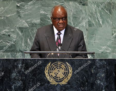 Hifikepunye Pohamba President of the Republic of Namibia Addresses the Opening of the 67th Session of the United Nations General Assembly at United Nations Headquarters in New York New York Usa 25 September 2012 United States New York