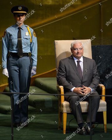 Ricardo Martinelli Berrocal President of Panama Prepares to Speak During the 67th Session of the United Nations General Assembly at United Nations Headquarters in New York New York Usa 25 September 2012 United States New York