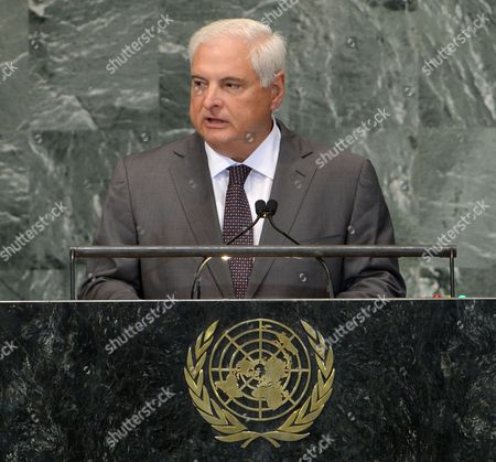 Ricardo Martinelli Berrocal President of Panama Speaks During the 67th Session of the United Nations General Assembly at United Nations Headquarters in New York New York Usa 25 September 2012 United States New York