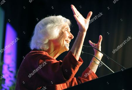 Stock Photo of Barbara Marx Hubbard Delivers the Keynote Address on the Opening Day of the Leadership Conference of Women Religious the Largest Group of Catholic Nuns in the United States in St Louis Missouri Usa 08 August 2012 a Vatican Investigation Claims Serious Doctrinal Problems Exist Within the Group For Questioning Church Views on Male-only Priesthood Homosexuality and Support of 'Radical Feminist Themes Incompatible with the Catholic Faith ' the Group is Reportedly Considering Options Ranging From Whether to Accept the Vatican's Guidance to Breaking From Vatican Control by Forming an Independent Organization United States St. Louis
