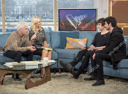 Phillip Schofield and Holly Willoughby with Into The Ark - Taylor Jones and Dane Lloyd