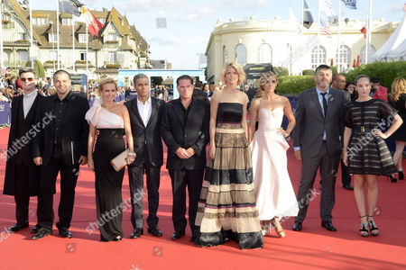 (l-r) Jury Members Philippe Decouffle Joann Sfar Sandrine Bonnaire Sami Bouajila Florent Emilio-siri Alice Taglioni Clotilde Courau Christophe Honore Anais Demoustier Arrive For the Screening of 'Robot and Frank' and Opening Ceremony of the 38th Deauville American Film Festival in Deauville France 31 August 2012 France Deauville