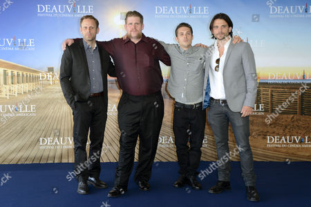 (l-r) Us Director Matt Ruskin Us Actor Adam Dupaul Us Actor Nico Stone and Us Producer Troy Johanson Pose For Photographers at the Photocall For 'Booster' During the 38th Deauville American Film Festival in Deauville France 04 September 2012 the Movie is Presented in the Official Competition of the Festival Which Runs From 31 August to 09 September France Deauville