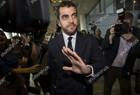 Stock Picture of Aurelien Hamelle Lawyer Representing Britain's Prince William and Kate Middleton Arrives at the Tribunal De Grande Instance in Nanterre Near Paris France 17 September 2012 Hamelle is Representing the Royal Couple in Legal Proceedings Brought Against Closer Magazine Which Published Topless Pictures of Kate Middleton Taken by an Unidentified Paparazzi Photographer in Southern France Over the Summer France Nanterre