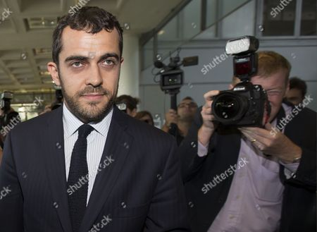 Stock Image of Aurelien Hamelle Lawyer Representing Britain's Prince William and Kate Middleton Arrives at the Tribunal De Grande Instance in Nanterre Near Paris France 17 September 2012 Hamelle is Representing the Royal Couple in Legal Proceedings Brought Against Closer Magazine Which Published Topless Pictures of Kate Middleton Taken by an Unidentified Paparazzi Photographer in Southern France Over the Summer France Nanterre