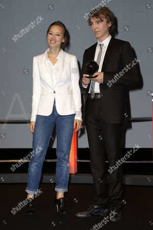 French Actress Isild Le Besco Smiles As Us Actor Paul Dano (r) Receives a Tribute Before the Screening of 'Ruby Sparks' During the 38th Deauville American Film Festival in Deauville France 02 September 2012 the Festival Runs From 31 August to 09 September France Deauville