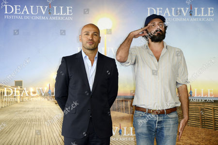 French Actor Eric Judor (l) and French Director Quentin Dupieux (r) Pose at a Photocall For 'Wrong' During the 38th Deauville American Film Festival in Deauville France 03 September 2012 the Festival Runs From 31 August to 09 September France Deauville