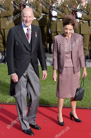 Former Bulgarian King Simeon Ii (l) and Queen Margarita (r) Arrive For the Religious Wedding Ceremony of Prince Guillaume Hereditary Grand Duke of Luxembourg and Countess Stephanie De Lannoy at the Cathedral of Our Lady of Luxembourg in Luxembourg City 20 October 2012 Celebrations Started on 19 October with a Civil Ceremony and a Gala Dinner For Family Members Monarchs National Authorities and Other Guests Luxembourg Luxembourg