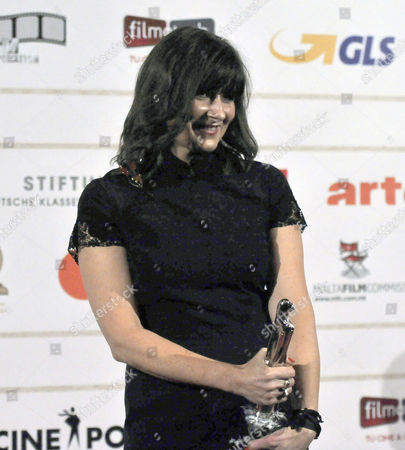 Maria Djurkovic Poses with Her Award For Best Production Designer Fro the Film 'Tinker Tailor Soldier Spy' During the 25th European Film Awards Ceremony at the Mediterranean Conference Centre in Valletta Malta 01 December 2012 Malta Valletta