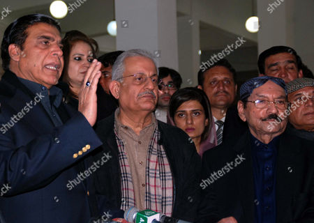 (l-r) Pakistan Prime Minister Raja Pervaiz Ashraf Senator Raza Rabbani Hina Rabbani Khar Pakistan Foreign Minister and Qaim Ali Shah Chief Minister of Sindh Visit the Mausoleum of Slain Former Prime Minister Benazir Bhutto to Mark the Fifth Anniversary of Her Assassination in Gari Khuda Buksh Pakistan 27 December 2012 Bhutto was Killed in an Attack During an Election Campaign in Rawalpindi on 27 December 2007 Pakistan Gari Khuda Buksh