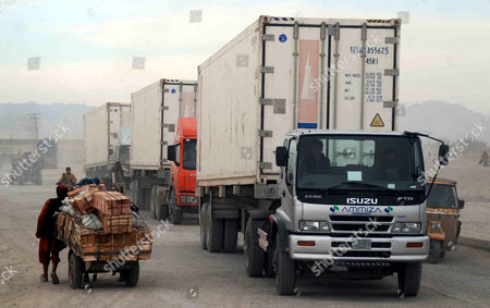 Trucks Carrying Logistic Supplies For the Nato Forces in Afghanistan Wait For Clearance Near the Afghan Border in Chaman Pakistan 06 December 2012 Pakistani Foreign Minister Hina Rabbani Khar on 03 December Urged Nato and Its Allies not to Leave Behind a 'Security Vacuum' in Neighboring Afghanistan As They Prepare to Withdraw Their Combat Troops From the Country in 2014 Pakistan Chaman
