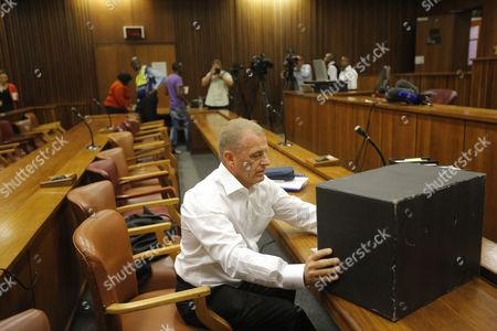 State Prosecutor Gerrie Nel Arrives For the Bail Application Appeal of Murder Suspect Oscar Pistorius in Pretoria South Africa 28 March 2013 Pistorius Did not Appear in Court the Case is Postponed Until 04 June 2013 South Africa Pretoria