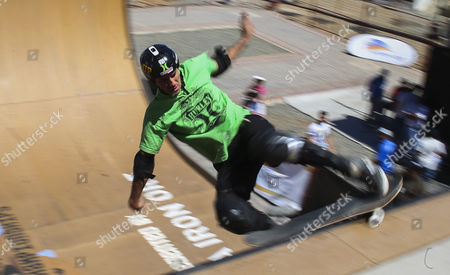 Professional Skateboarder Bob Burnquist From Brazil Rides in the Vert Ramp During the 2012 Skateboarding World Championships Maloof Money Cup in Kimberley South Africa 30 September 2012 the World's Best Skateboarders Are Competing For the Biggest Cash Prize in Skateboarding in the Three Disciplines of Street Vert and Mega Ramp the Maloof Money Cup South Africa Skate Park is Built Next to the Famous Kimberley Diamond Mine and is a New Destination For Skateboarders Around the World As Well As Being a Centre For Youth Development and Community Upliftment Through the Skate For Hope Programme Initiated by the Us Hotel Property Ticoons the Maloof Brothers South Africa Kimberley