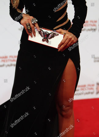 Fashion Detail of Lebanese Tv Presenter and Singer Maya Diab As She Arrives For the Opening Ceremony of the Abu Dhabi Film Festival (adff 2012) in Abu Dhabi United Arab Emirates 11 October 2012 a Total of 81 Feature Length Films and 84 Short Films Representing 48 Countries Will Be Screened at the Festival Epa/ali Haider United Arab Emirates Abu Dhabi
