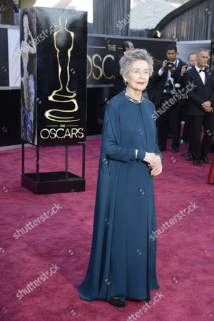 French Actress Emmanuelle Riva Arrives For the 85th Academy Awards in Hollywood California Usa 24 February 2013 the Oscars Are Presented For Outstanding Individual Or Collective Efforts in Up to 24 Categories in Filmmaking United States Hollywood