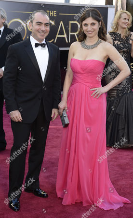 Stock Photo of Filmmakers Sari Gilman (r) and Jedd Wider Arrive on the Red Carpet For the 85th Academy Awards at the Dolby Theatre in Hollywood California Usa 24 February 2013 the Oscars Are Presented For Outstanding Individual Or Collective Efforts in Up to 24 Categories in Filmmaking United States Hollywood