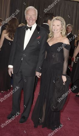Canadian Actor Christopher Plummer and His Wife Elaine Taylor Arrive on the Red Carpet For the 85th Academy Awards at the Dolby Theatre in Hollywood California Usa 24 February 2013 the Oscars Are Presented For Outstanding Individual Or Collective Efforts in Up to 24 Categories in Filmmaking United States Hollywood
