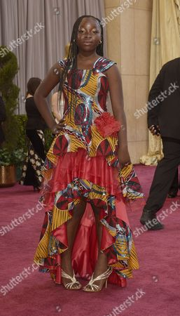 Actress Rachel Mwanza of the Congo Arrives on the Red Carpet For the 85th Academy Awards at the Dolby Theatre in Hollywood California Usa 24 February 2013 the Oscars Are Presented For Outstanding Individual Or Collective Efforts in Up to 24 Categories in Filmmaking United States Hollywood