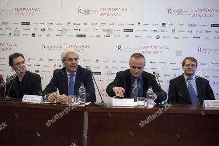 Manuel Legris, Ignacio Garcia-Belenguer, Joan Matabosch and Valery Ovsyanikov