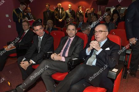 Stock Picture of Jan Woerner, Manuel Valls, Thierry Mandon and Bernard Cazeneuve