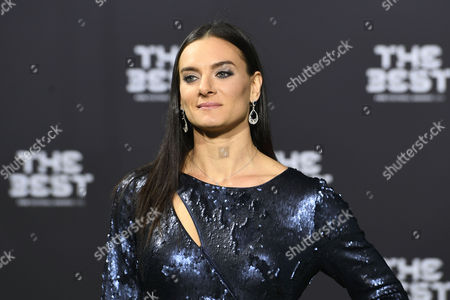Russian former pole vaulter Yelena Isinbayeva prior to the Fifa Awards 2016 gala in Zurich, Switzerland, 09 January 2017. The best footballer of 2016 will be chosen during the ceremony.